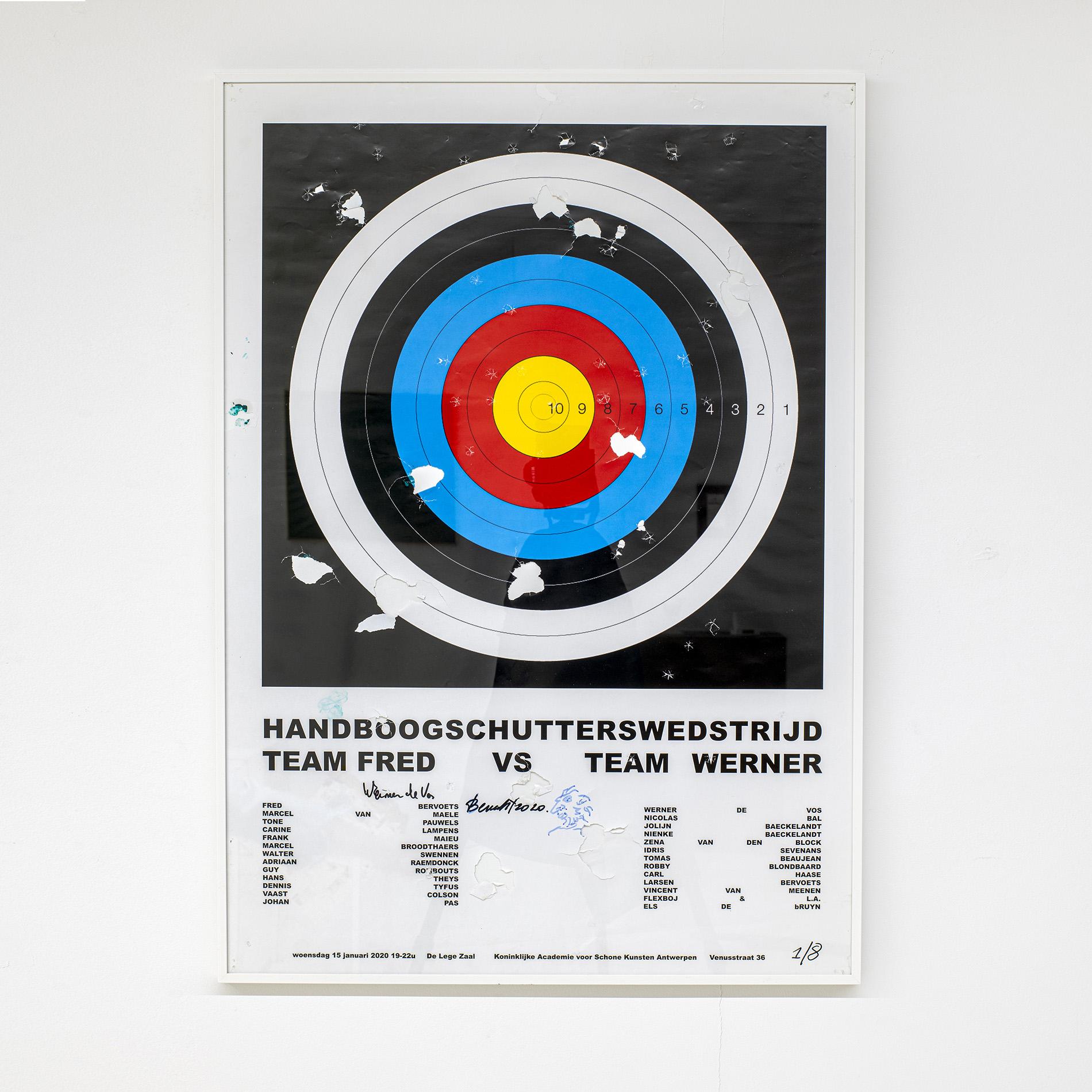 Idris Sevenans | Handboogschutterswedstrijd (gesigneerde en beschoten affiches) 2020