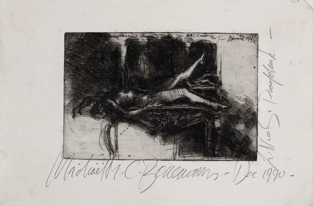 Michaël Borremans | Woman on Chimney 1990