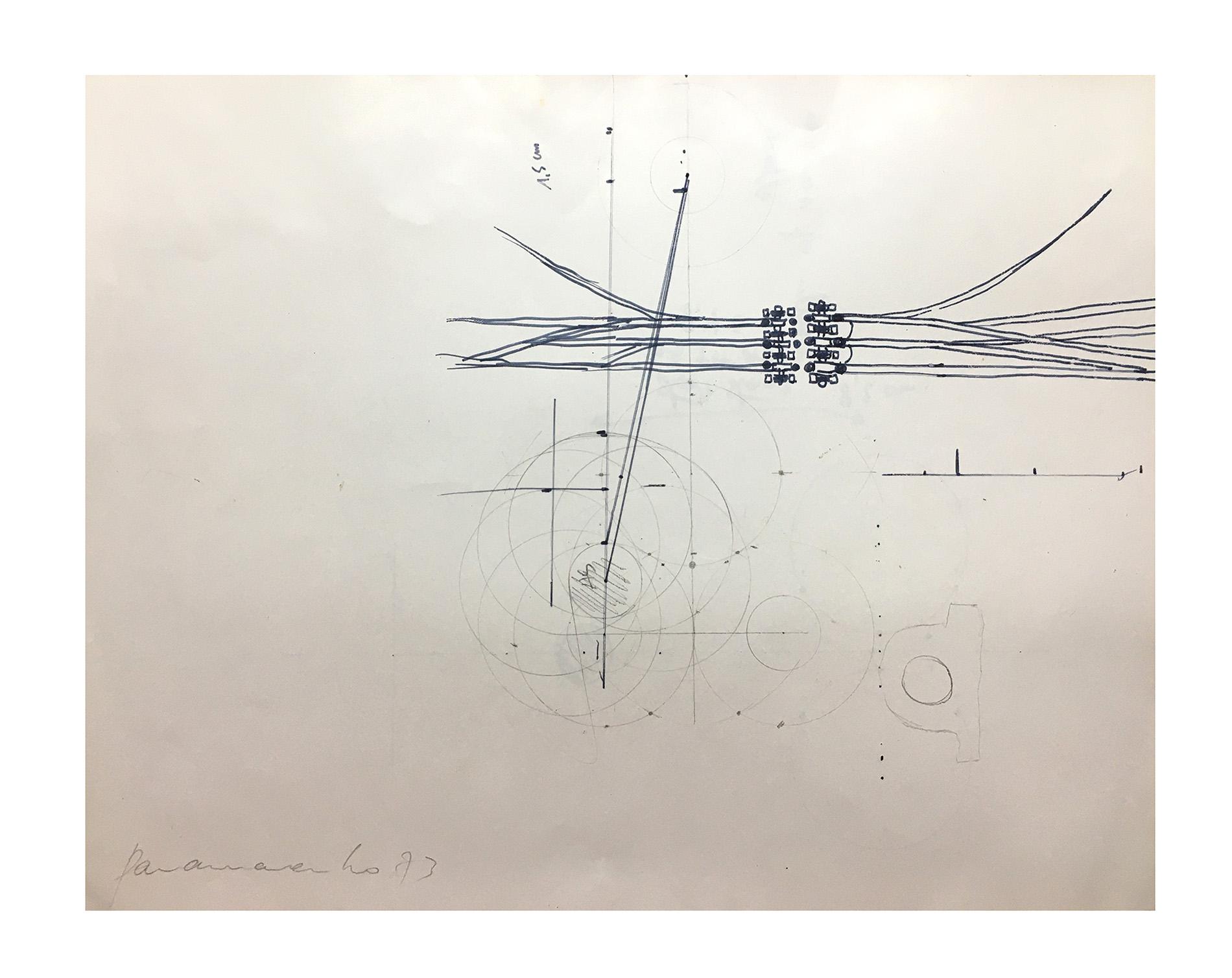 Panamarenko | Originele tekening (dubbelzijdig) 1973