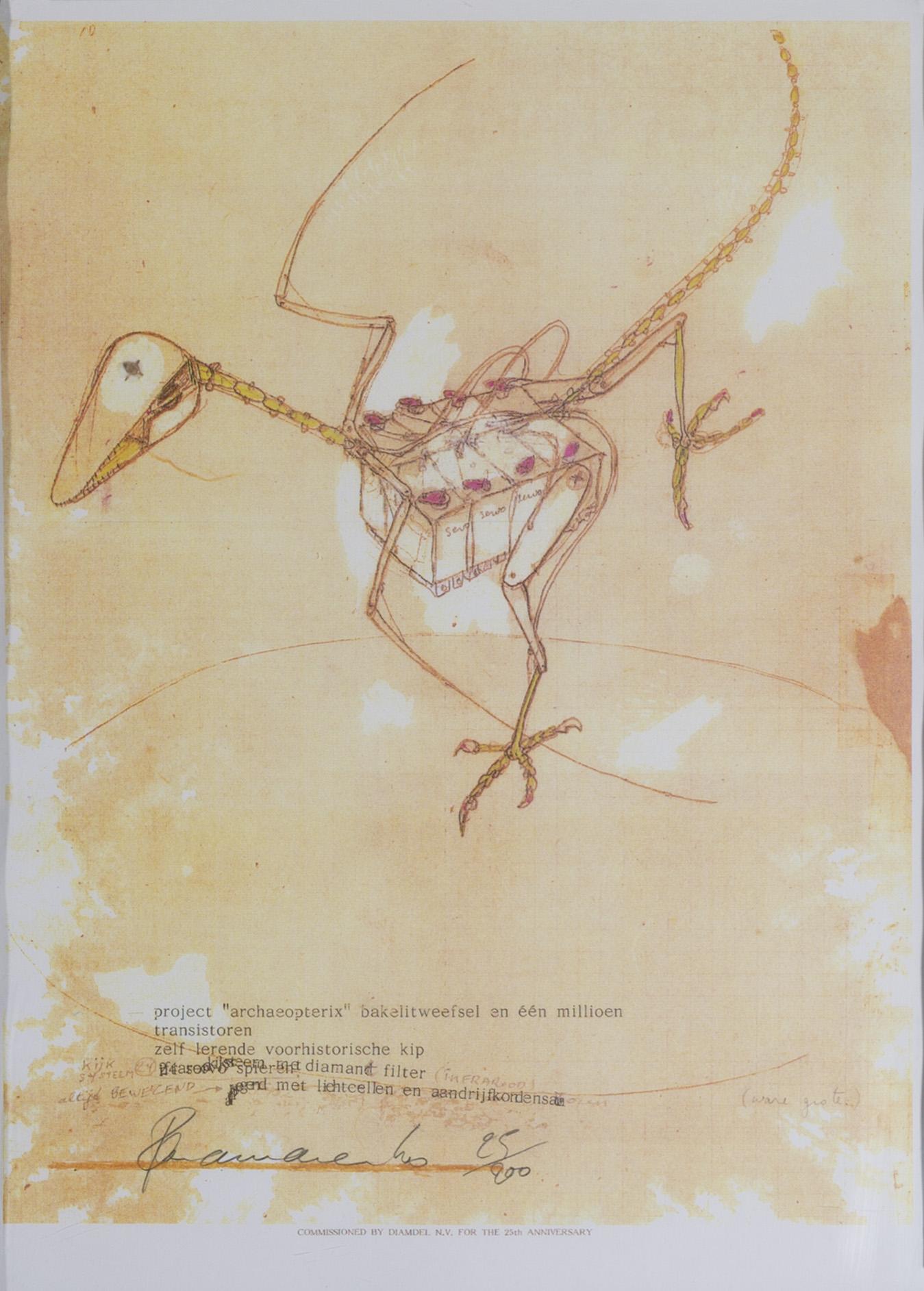 Panamarenko | Archaeopteryx oker 1990