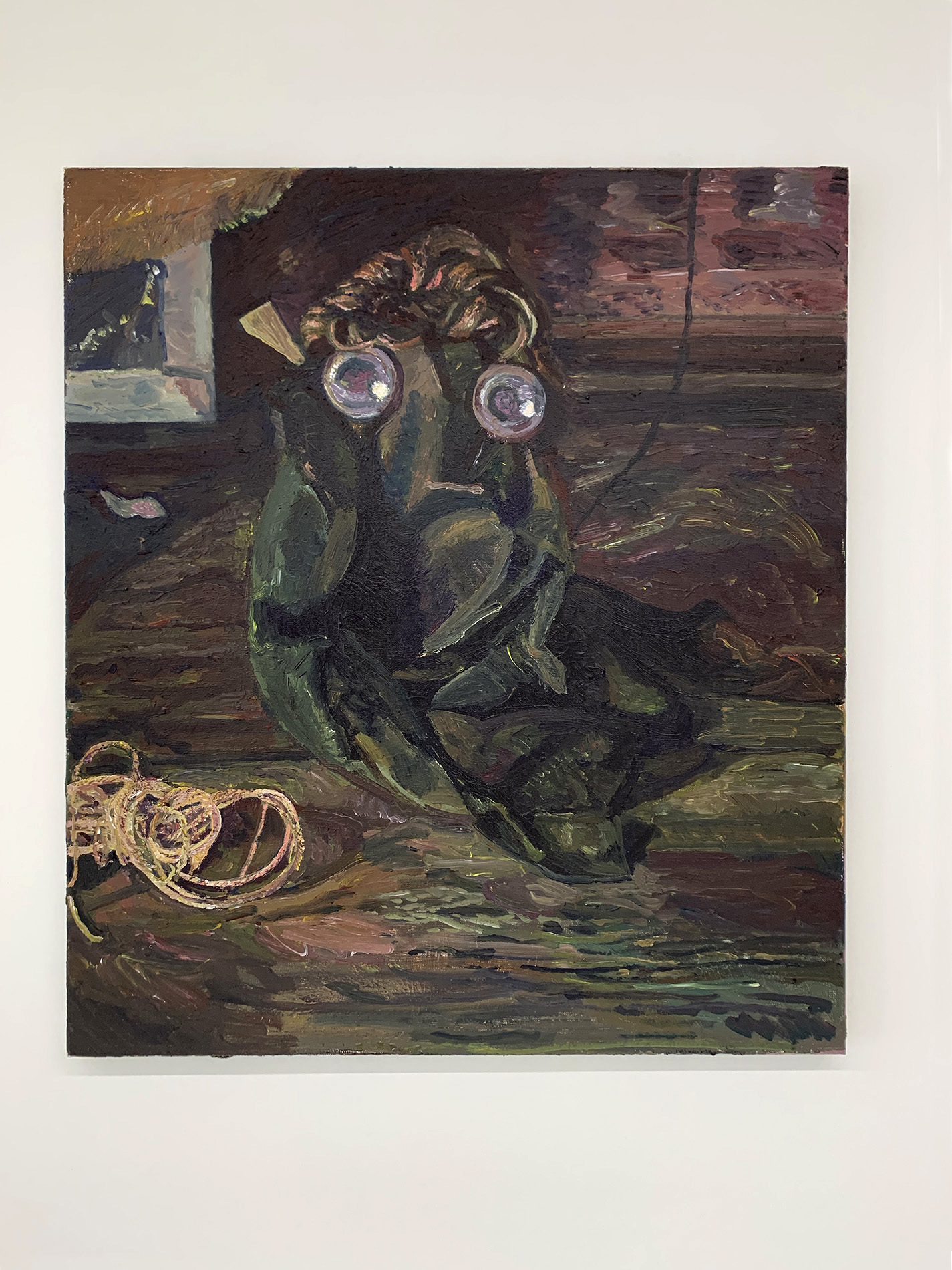 Redemption Song | Jorik Dzobova - A wig, drapery, two lamps and a rope 2021